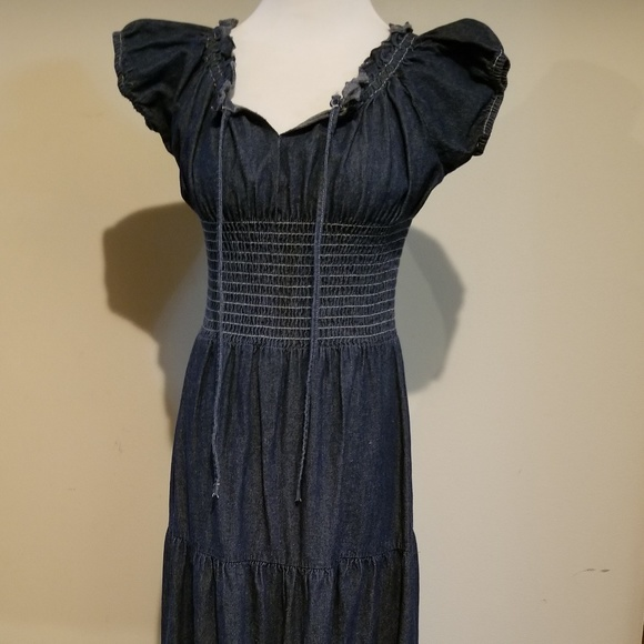 7eb93cdb6e Long Denim Dress. M 5bd9bf97d6dc52f1b0bdf2ba